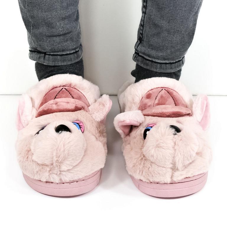 Dámske ružové papuče KAYLA