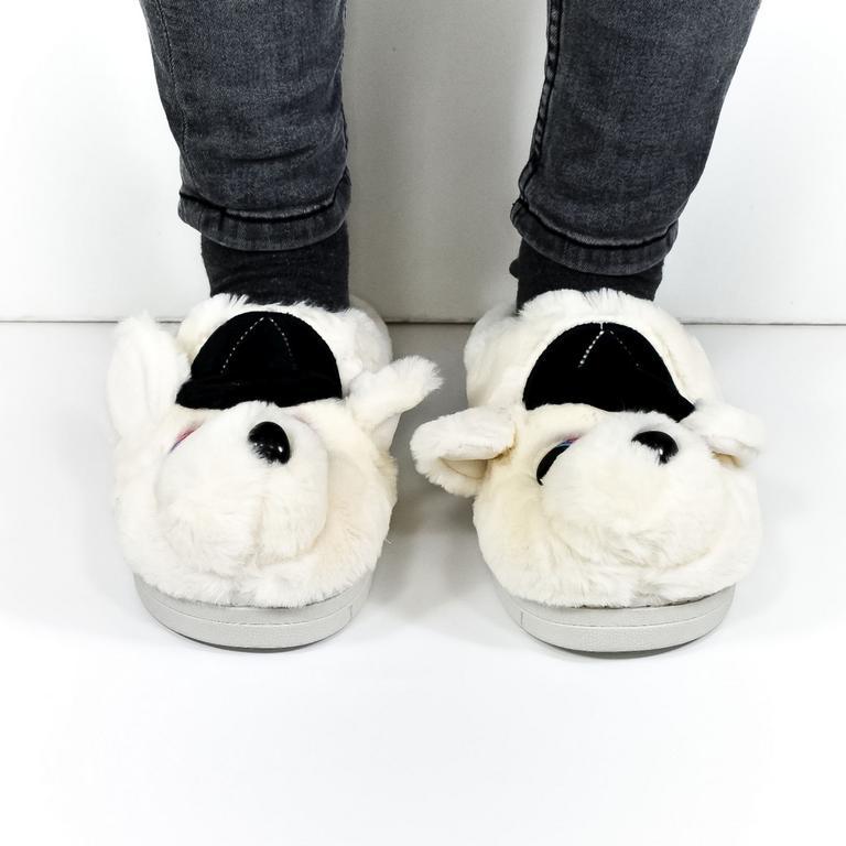 Dámske biele papuče KAYLA