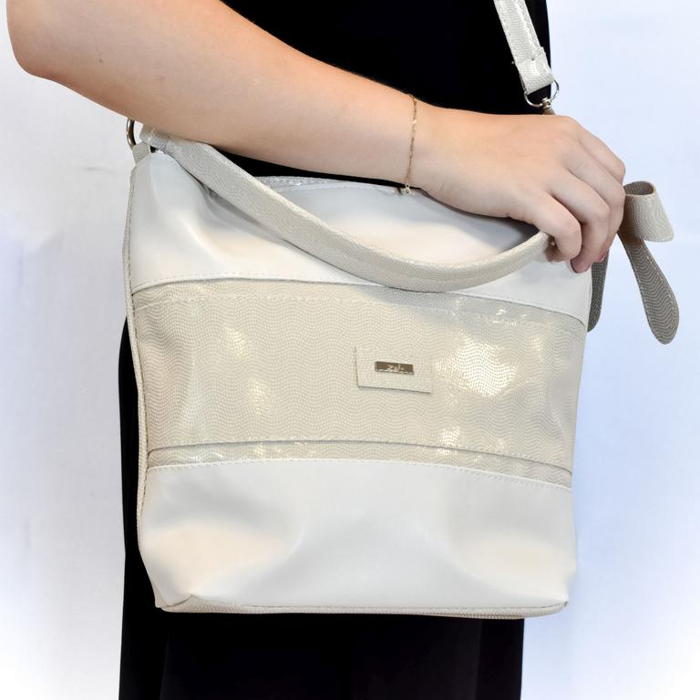 Dámska béžová kabelka DELIN