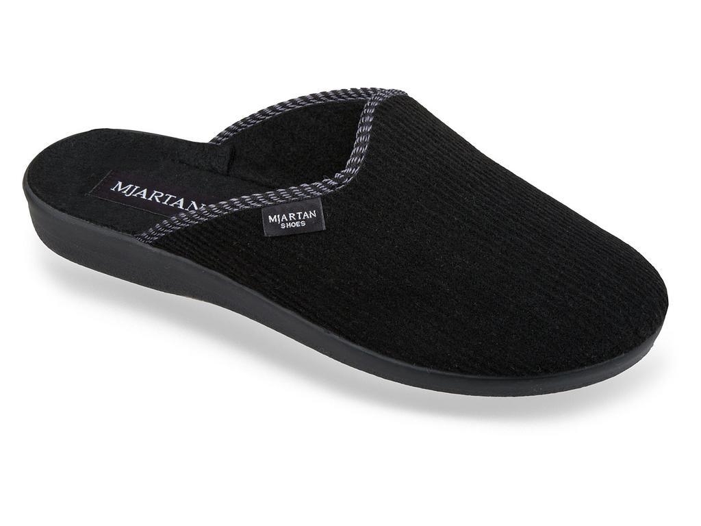 Pánske čierne papuče MJARTAN NERO