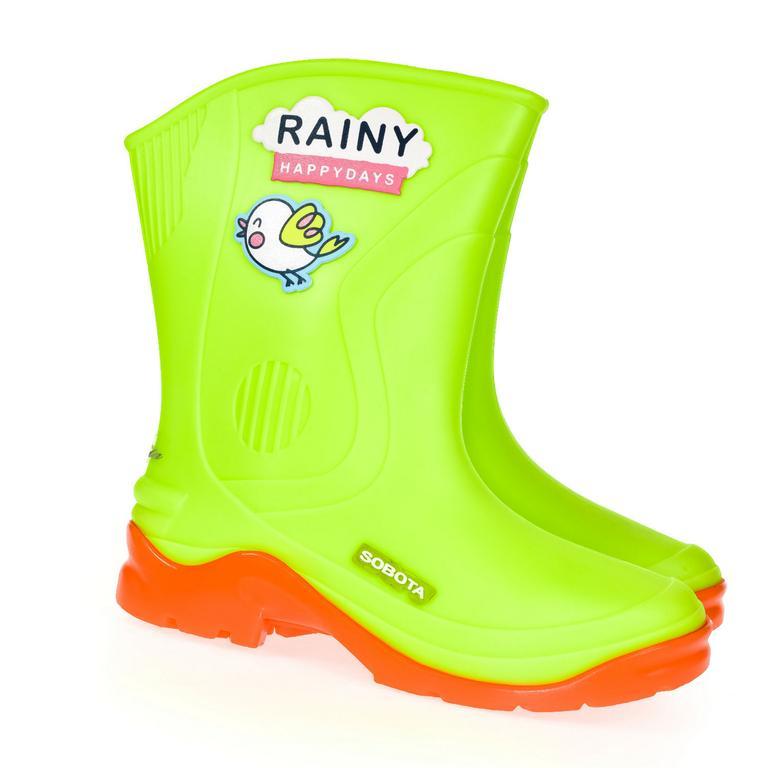 Detské zelené gumáky SOBOTA RAINY