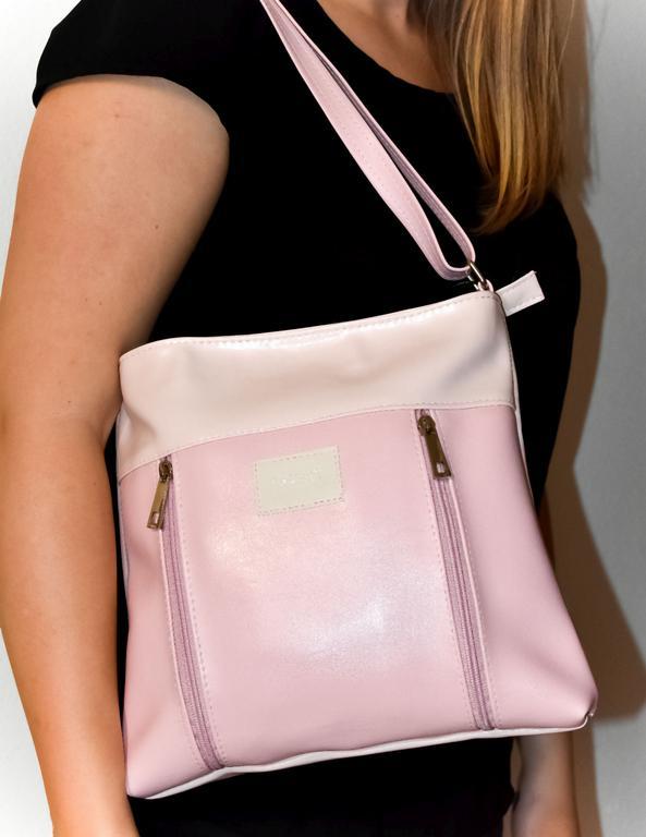 Dámska ružová kabelka IRISA