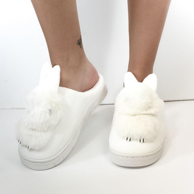 Dámske biele papuče ZAJO