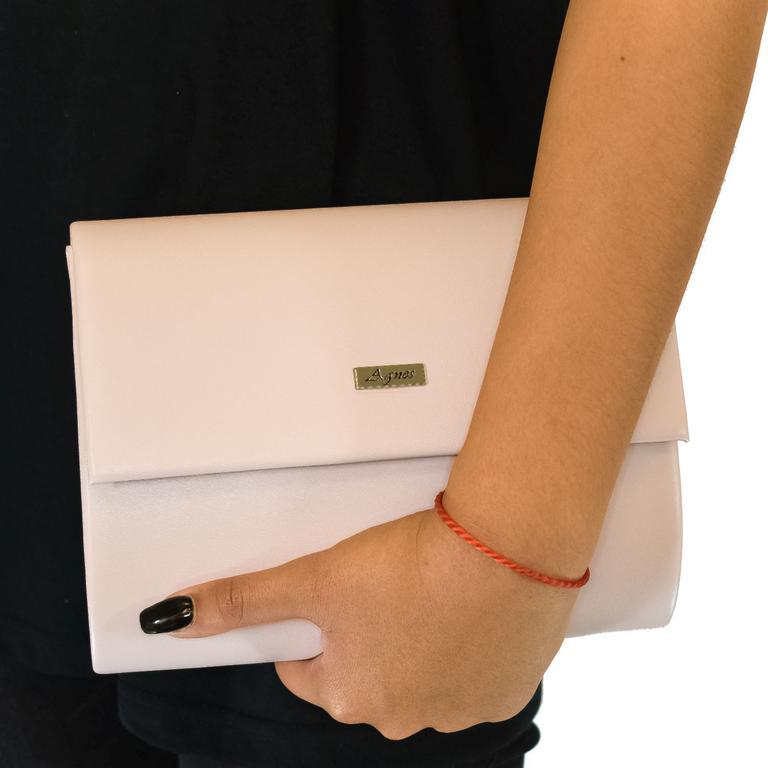 Dámska pudrovo-ružová kabelka AGNES ROMANE