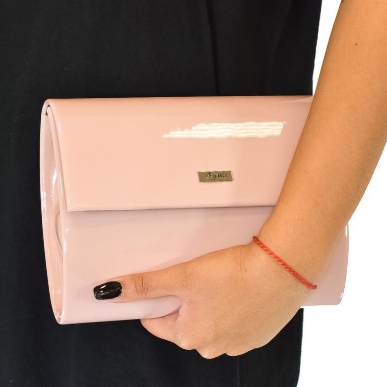 Dámska ružová kabelka AGNES ROMANE