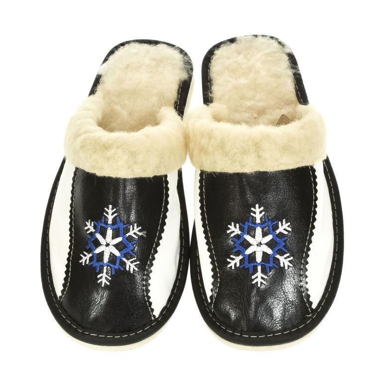 Dámske čierne papuče DÚBRAVKA