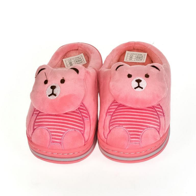 Detské tmavo-ružové papuče MACKO