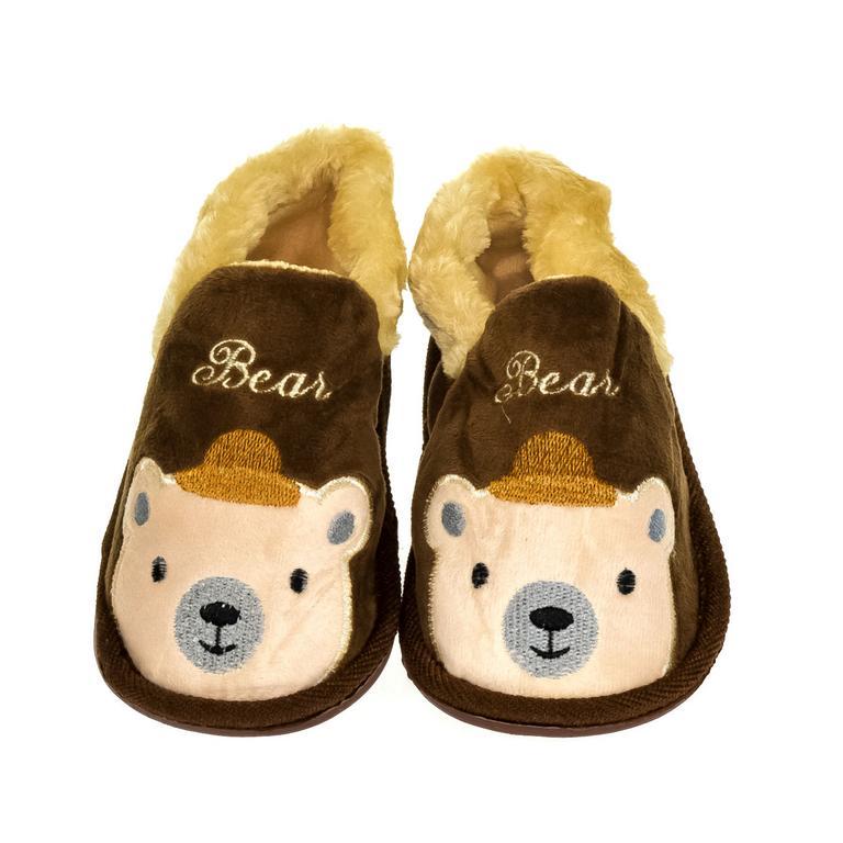 Detské hnedé papuče BEAR