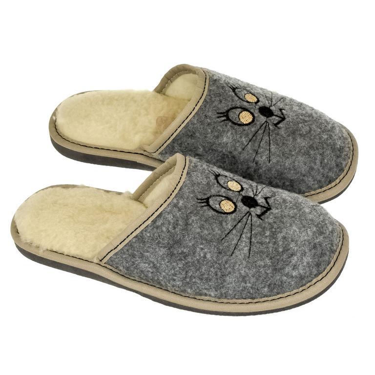 Dámske sivé papuče KITT
