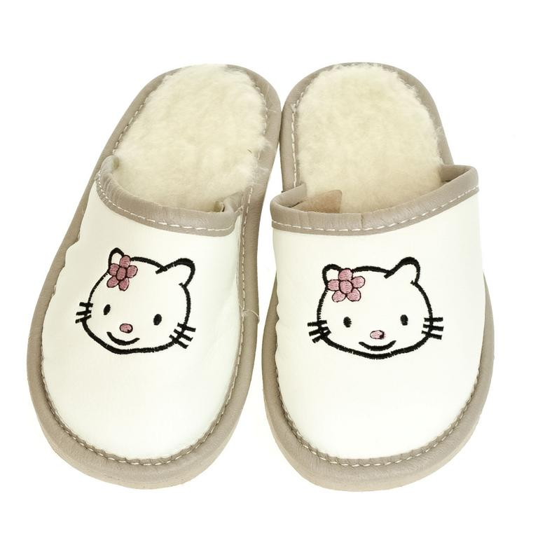 Detské biele papuče AHOJ KITTY 36-41