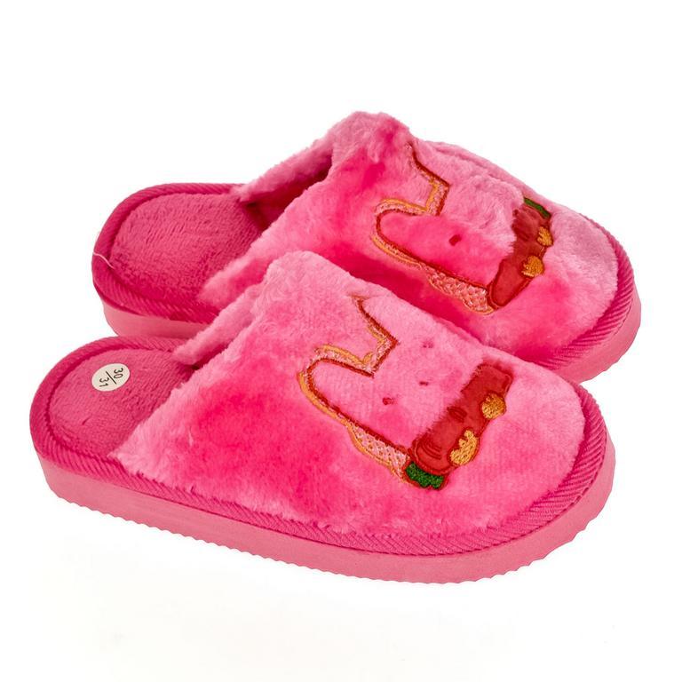 Detské ružové papuče KRÁLIK