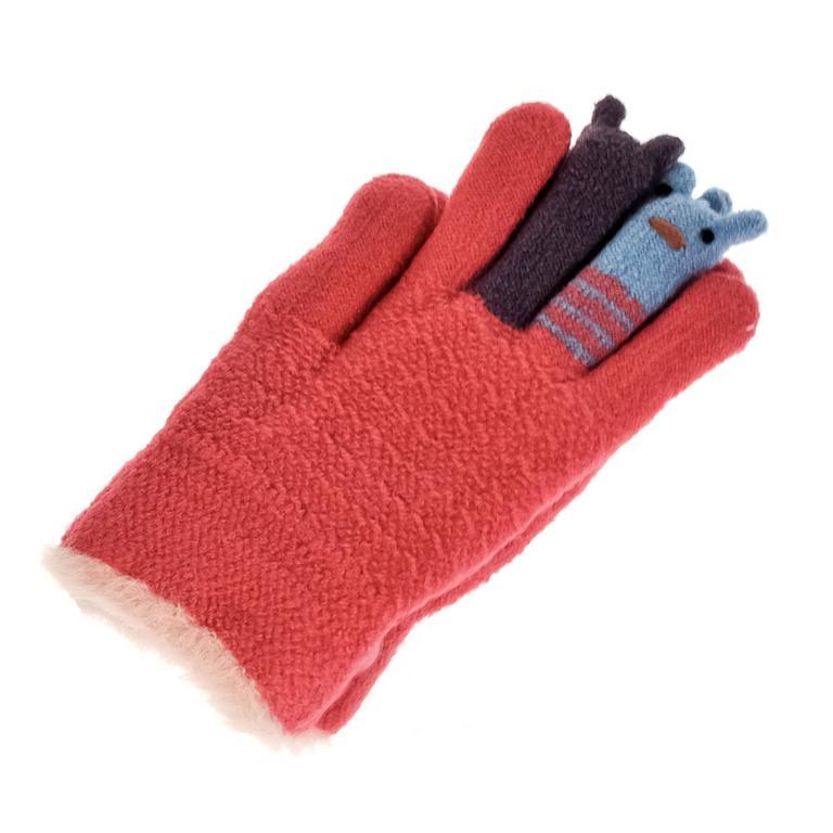 Detské červené rukavice GALL