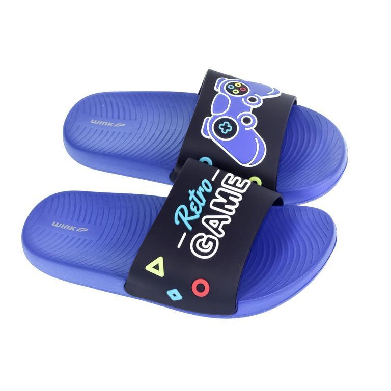 Detské modré šľapky GAME