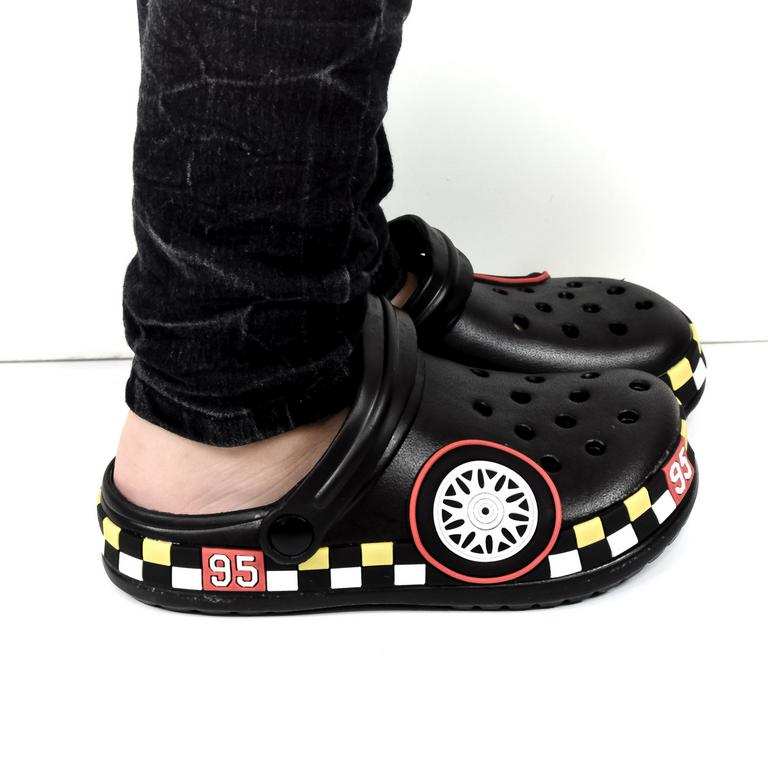 Detské čierne crocsy CARS