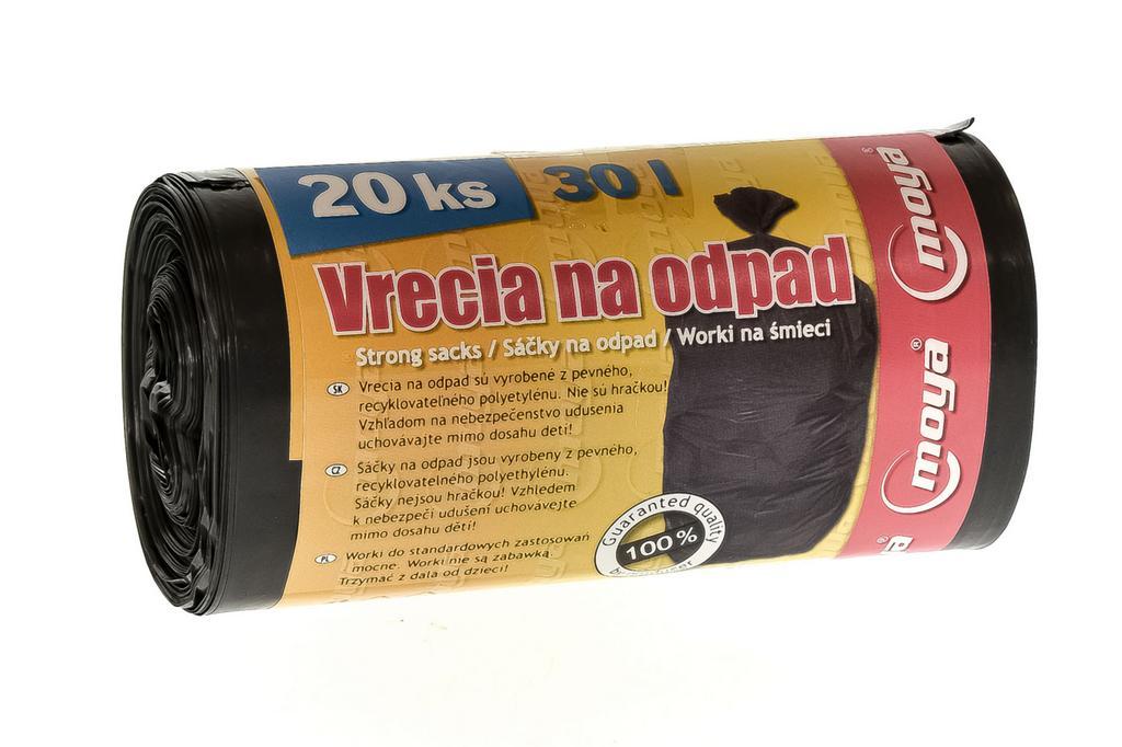 Čierne vrecia na odpad 30l - 3 balenie