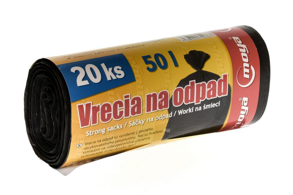 50l čierne vrecia na odpad - 3 balenia