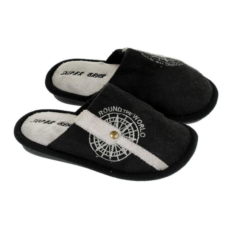 Detské čierne papuče S.GEAR ROUND THE WORLD