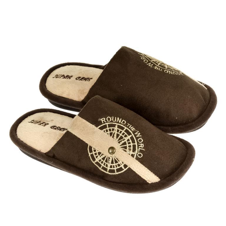 Detské hnedé papuče S.GEAR ROUND THE WORLD