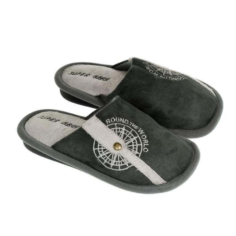 Detské sivé papuče S.GEAR ROUND THE WORLD