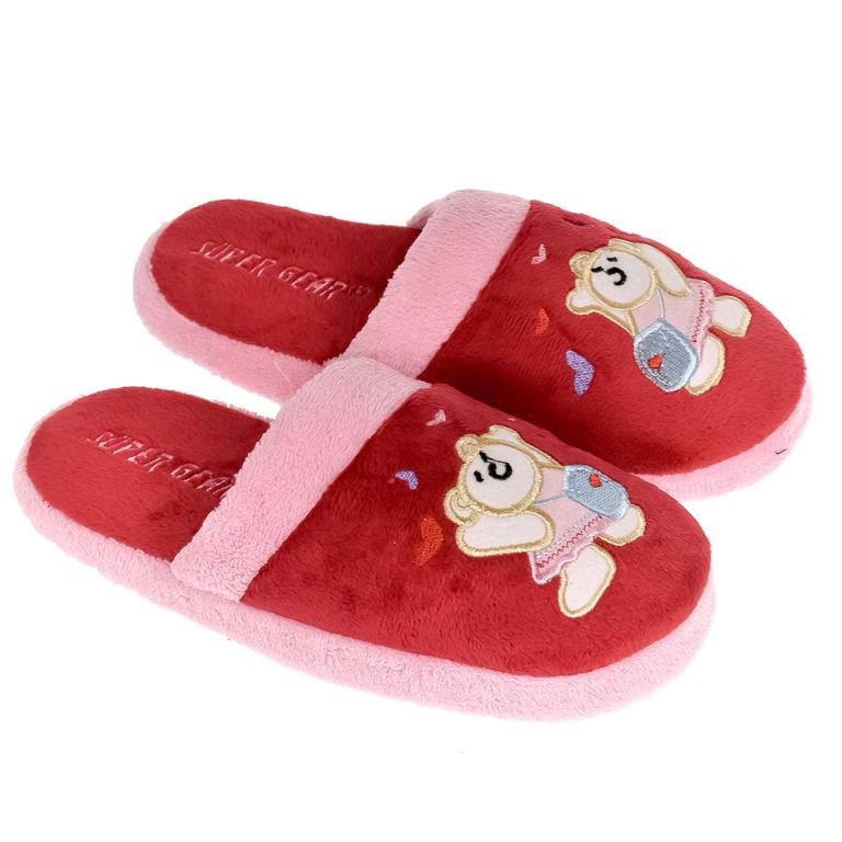 Detské červené papuče S.GEAR TEDDY BEAR
