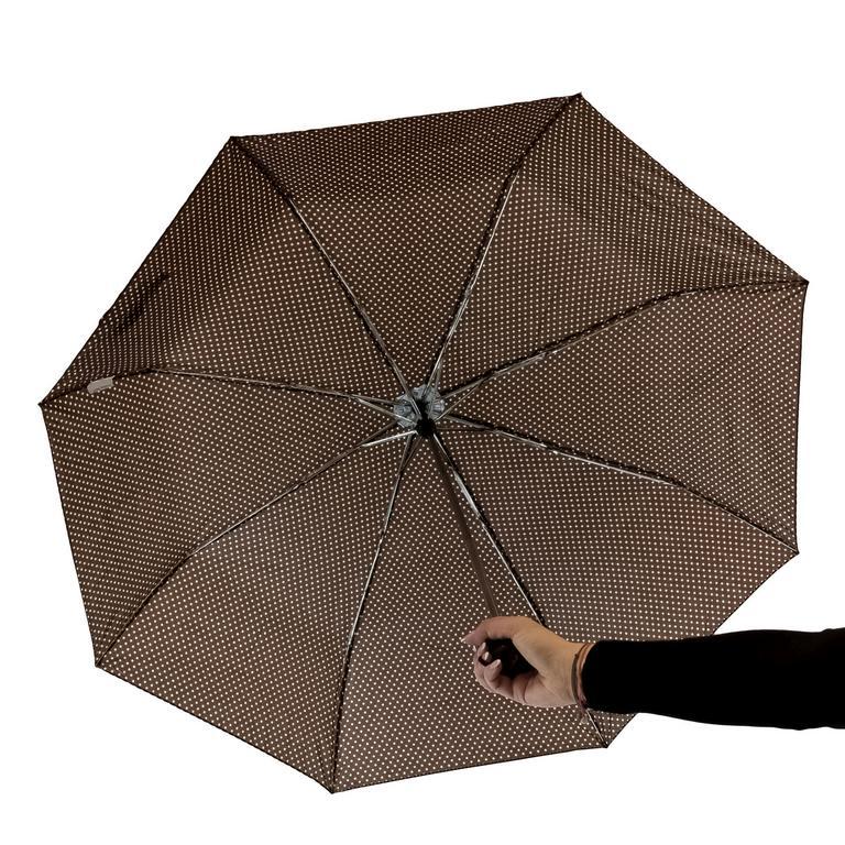 Dámsky hnedý bodkovaný dáždnik MANHA