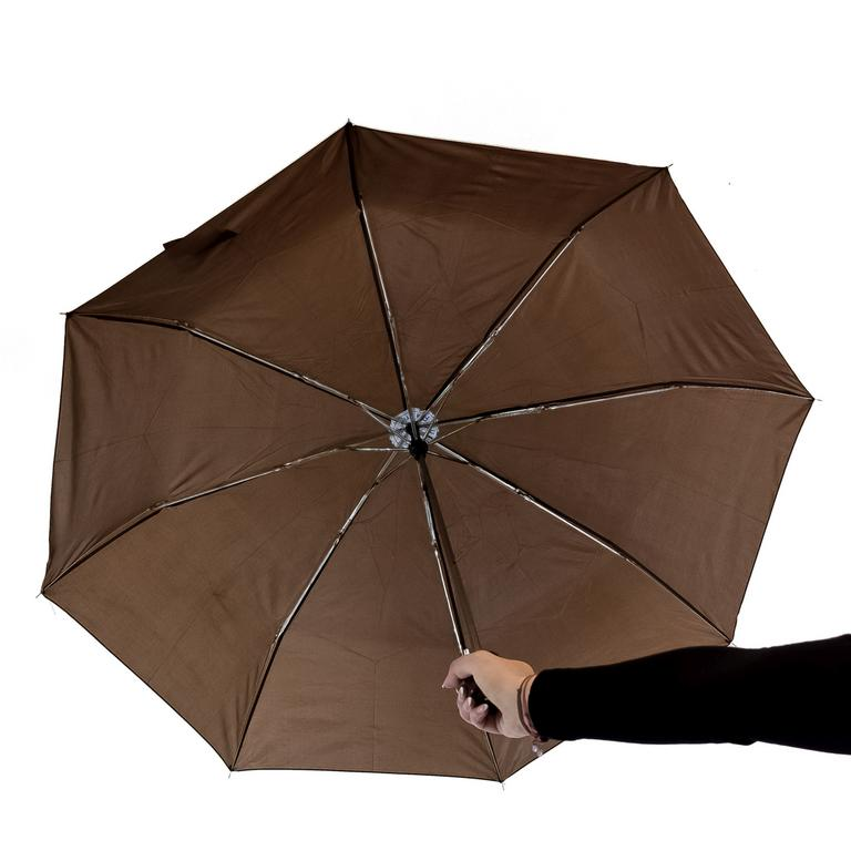 Unisex hnedý dáždnik HAMIS