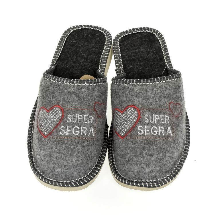Dámske sivé papuče SEGRA