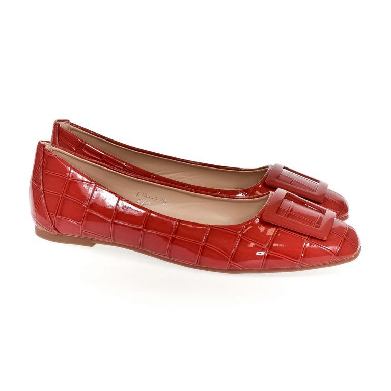 Dámske červené baleríny ALISHA