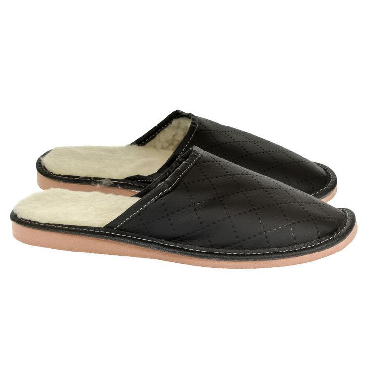 Pánske čierne papuče LINES