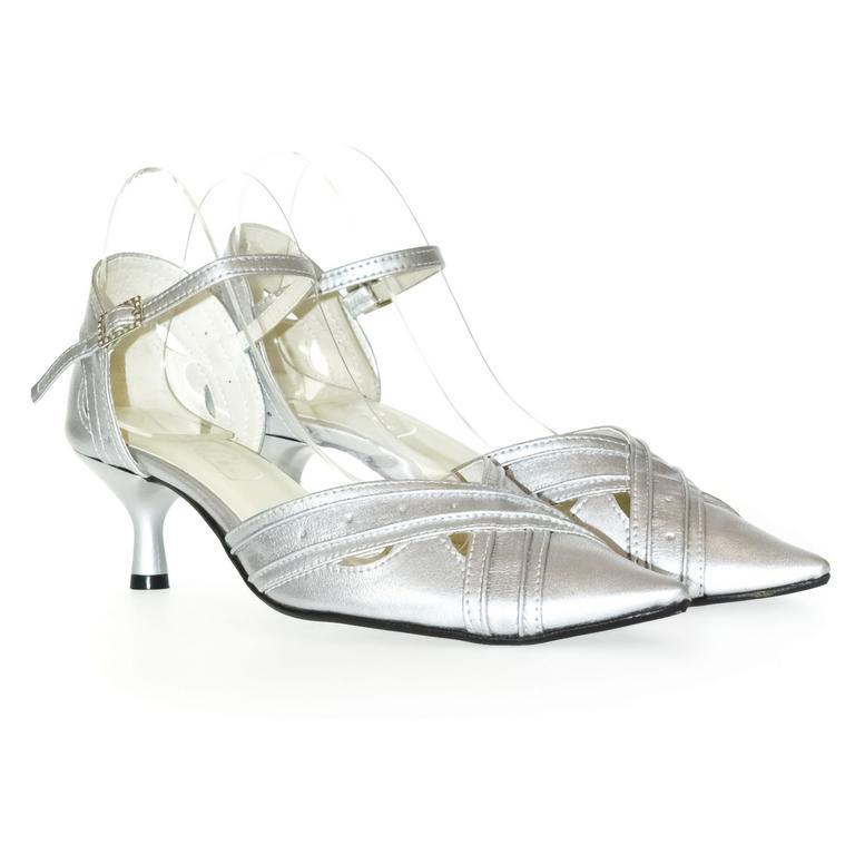 Dámske strieborné sandále BIANCA
