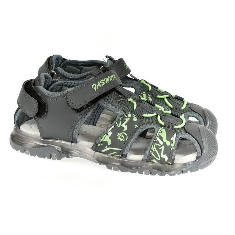 Detské blikajúce sivé sandále CSCK.S JONES