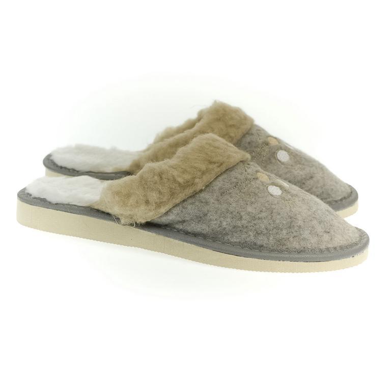 Dámske sivé papuče DANELL