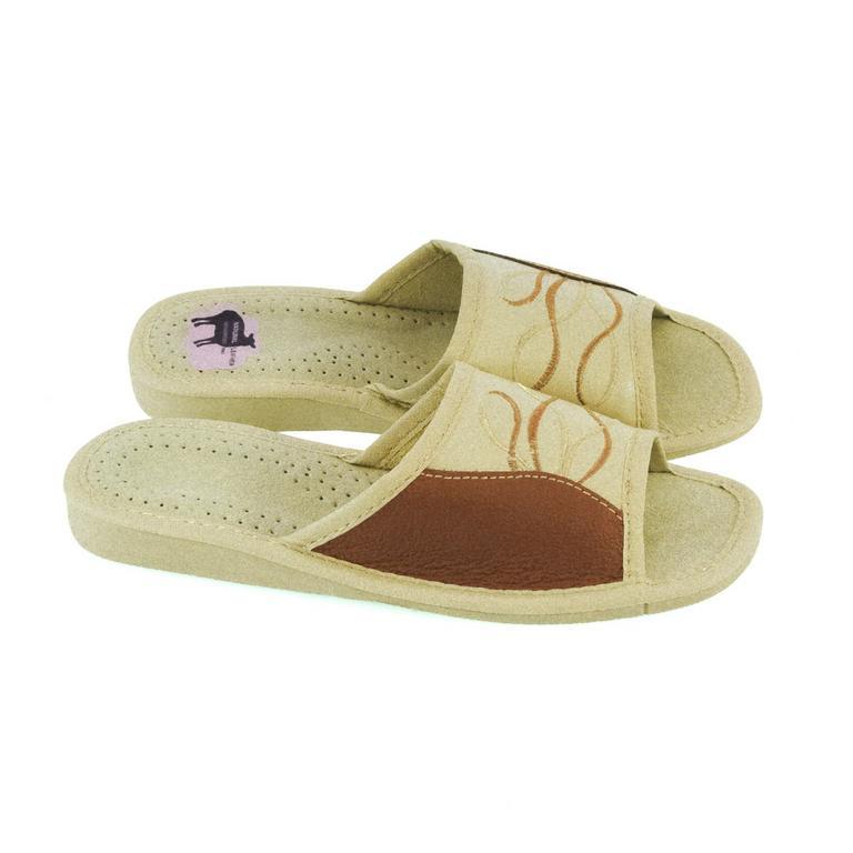 Dámske kožené papuče JOHANA