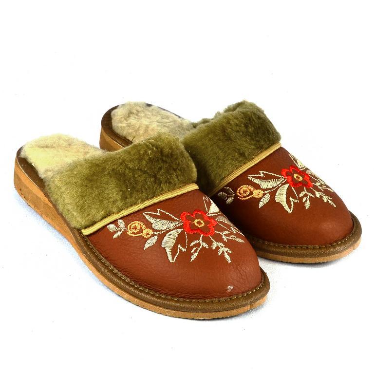 Dámske kožené papuče ARANKA