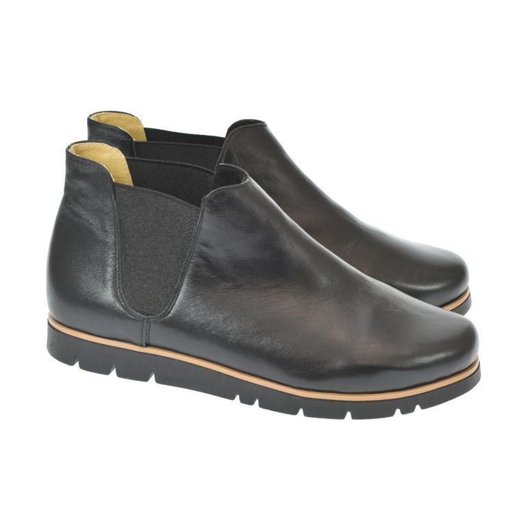 Dámske čierne členkové topánky AURICIA