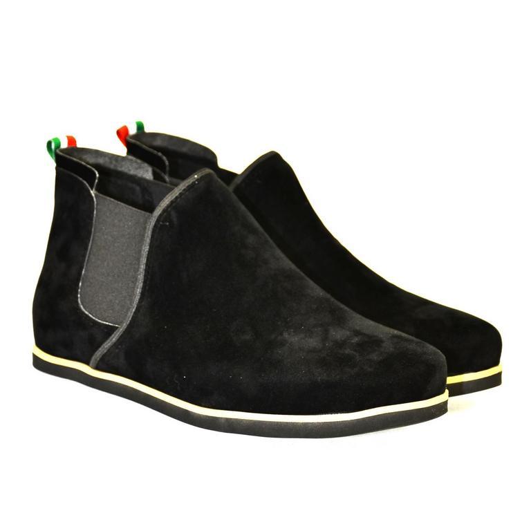 Dámske čierne členkové topánky ORIOS