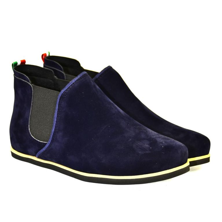 Dámske tmavo-modré členkové topánky ORIOS