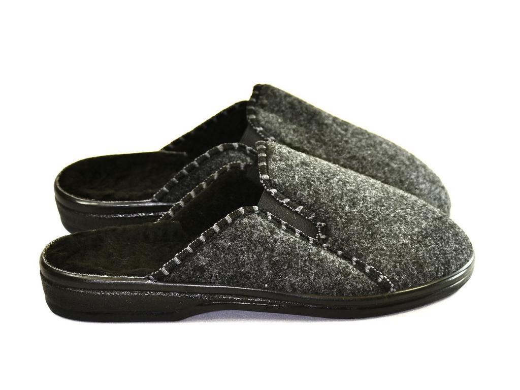 Pánske sivé papuče BEN