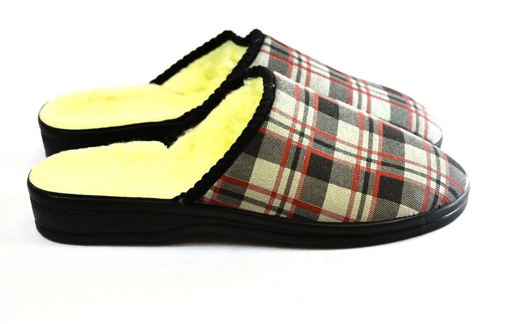 Pánske kockované papuče RAFAT