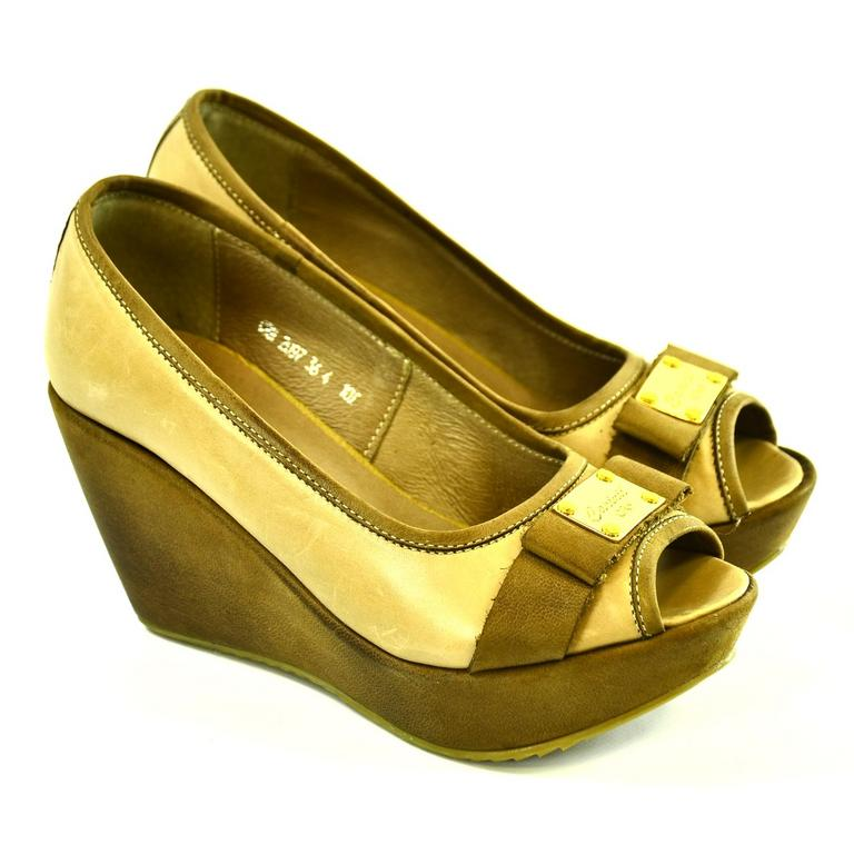 Dámske hnedé topánky PIONE