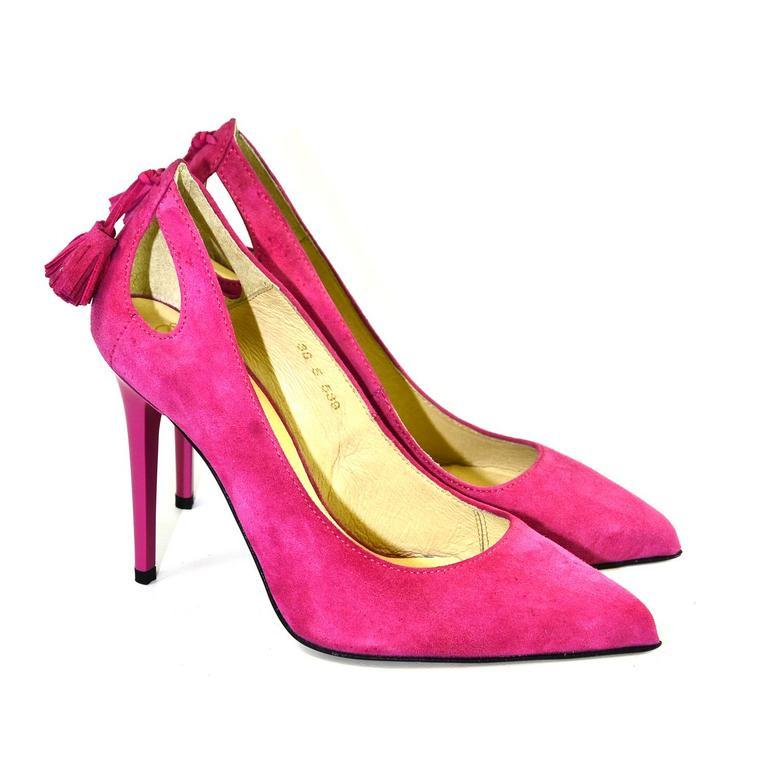 Dámske ružové lodičky BONNIE