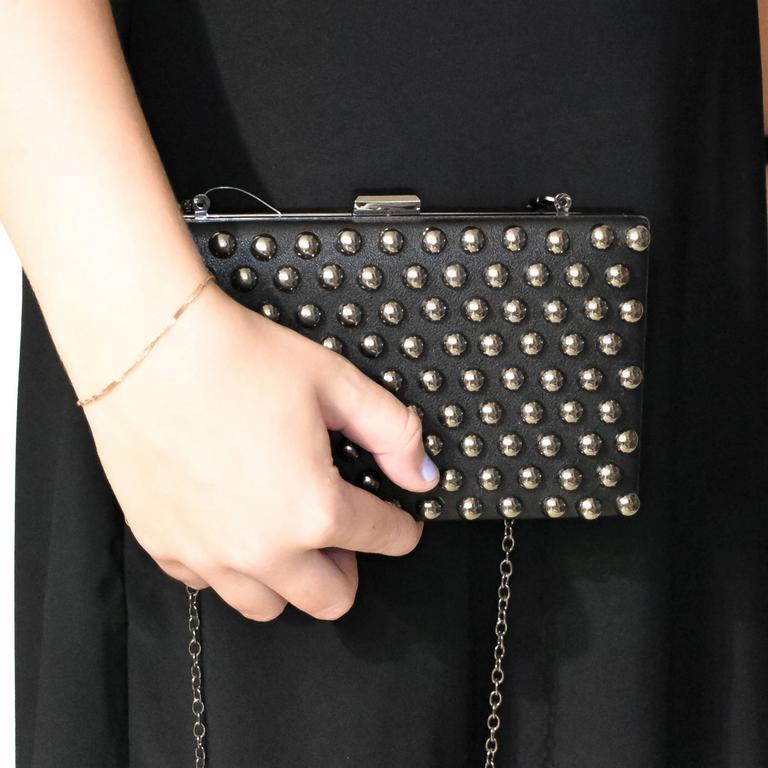 Dámska čierna kabelka ELECO