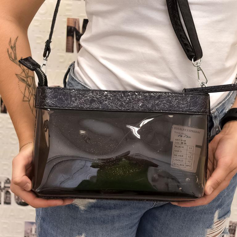 Dámska čierna kabelka DELIX
