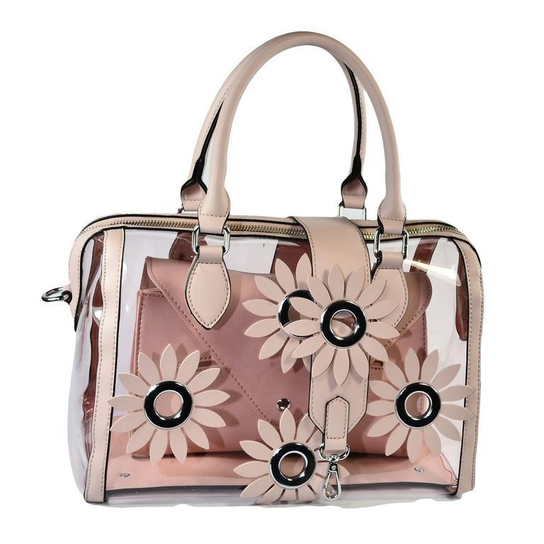 Dámska ružová kabelka FLOWER