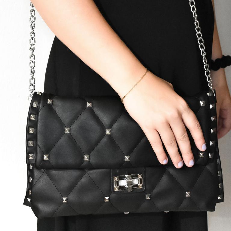 Dámska čierna kabelka DERT