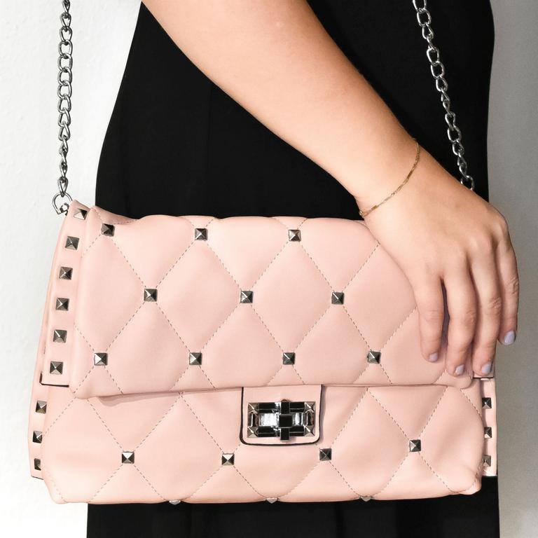 Dámska ružová kabelka DERT